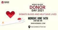 world blood donor day banner auf Facebook geteiltes Bild template