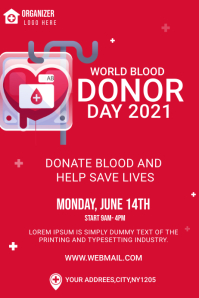 world blood donor day banner