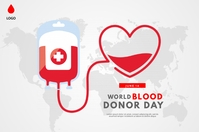 World Blood Donor day Banner 4' × 6' template