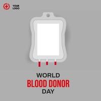World Blood Donor day Publicación de Instagram template