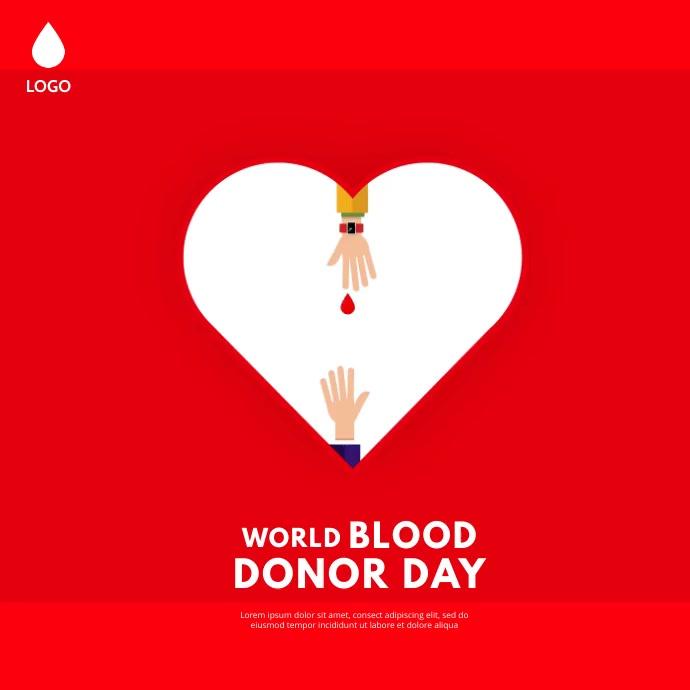 World Blood Donor day Instagram-Beitrag template