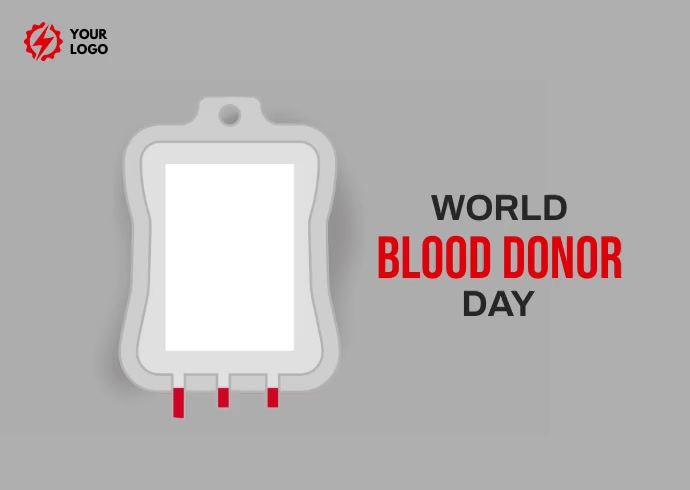 World Blood Donor day 明信片 template