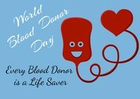 World blood donor day ไปรษณียบัตร template