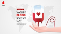 World Blood Donor day Twitter-Beitrag template
