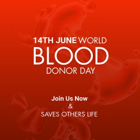 World Blood Donor Day Wpis na Instagrama template