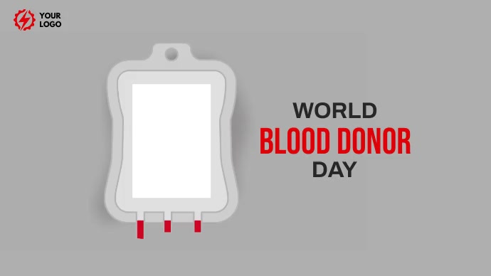 World Blood Donor day Twitter 帖子 template