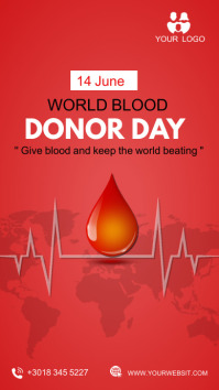 World Blood Donor Day Instagram story post template