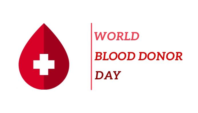 World blood donor day template Cartão de visita