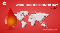 World blood donor day Twitter post template