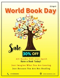 World Book and Copyright Day Volantino (US Letter) template