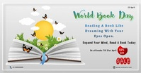 World Book and Copyright Day Facebook Shared Image template