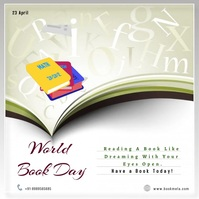 World Book and Copyright Day Pos Instagram template