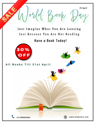 World Book and Copyright Day Flyer (format US Letter) template