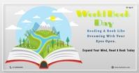 World Book and Copyright Day Obraz udostępniany na Facebooku template