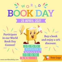 World book day contest social media post Instagram-opslag template