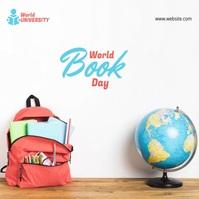World Book Day Сообщение Instagram template