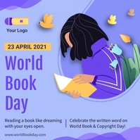 World book day special offer Instagram-opslag template