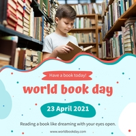 World book day special sale offer Instagram-opslag template