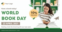 World Book Day special sale offer delt Facebook-billede template