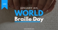 World Braille Day Template delt Facebook-billede