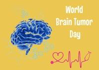 World brain tumor day Postal template