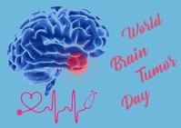 World brain tumor day Postcard template