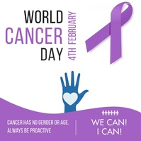 World Cancer Day Campaign Instagram Video Tem Persegi (1:1) template