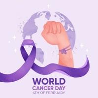 WORLD CANCER DAY Logo template