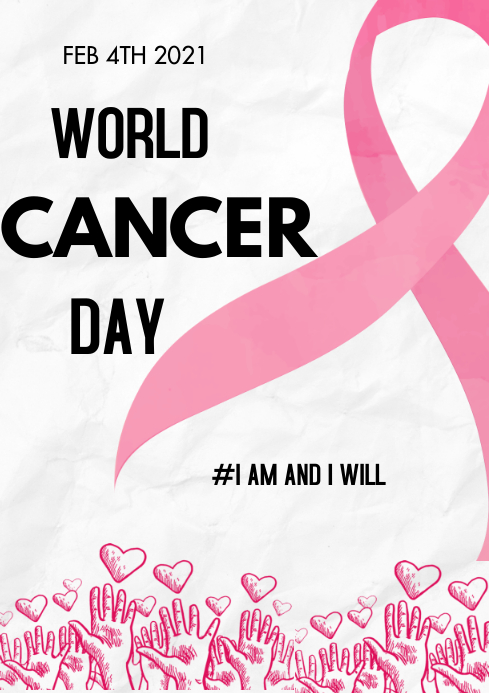 world cancer day A3 template