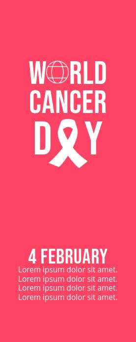 World Cancer Day Cartel enrollable de 2 × 5 pulg. template