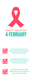 World Cancer Day Roll Up Banner 2' × 5' template