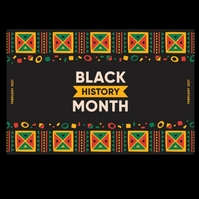 BLACK HISTORY MONTH Logo template