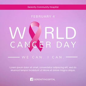 World Cancer Day Event Advertising