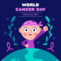 WORLD CANCER DAY POSTER TEMPLATE Logo