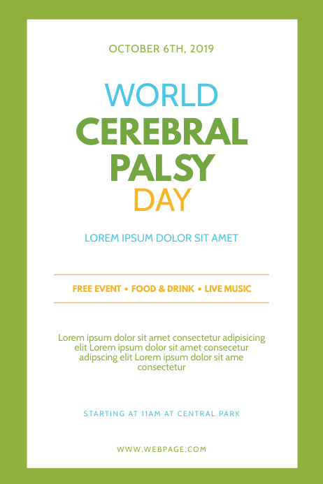 World Cerebral Palsy Day Flyer Template