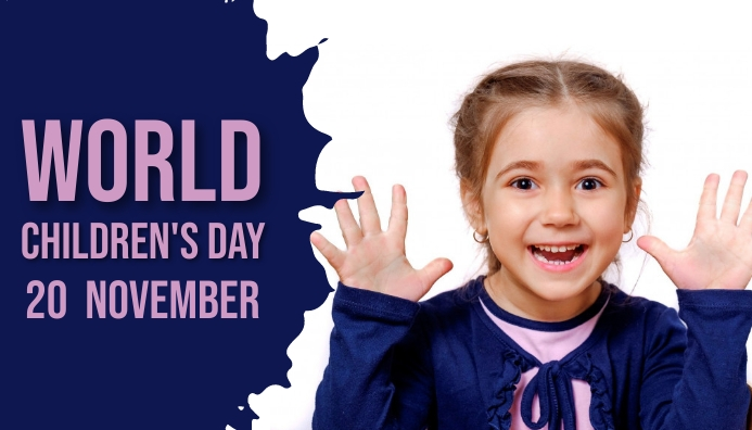 World Children's day,school Blog Header template