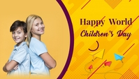 World Children's day,school Blog Header template