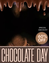 world Chocolate day, chocolate day Pamflet (Letter AS) template