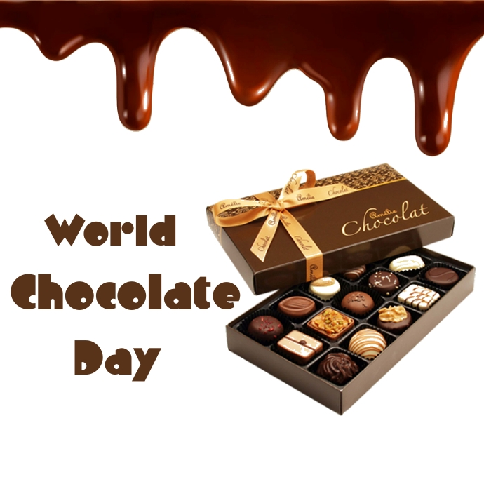 World chocolate day Logotipo template