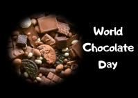 World chocolate day Postkort template