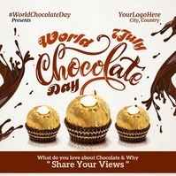 World Chocolate Day Post Template Instagram-bericht