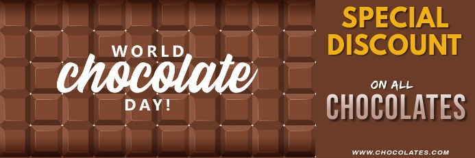 World Chocolate Day Template Banner 2 x 6 fod
