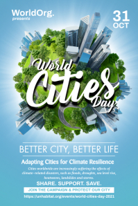 World Cities Day Poster Template