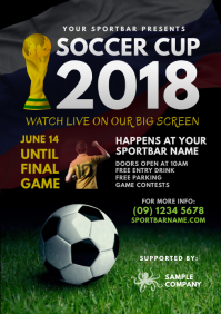 World Soccer Cup 2018 Flyer Template