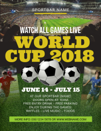 World Cup 2018 Flyer Template