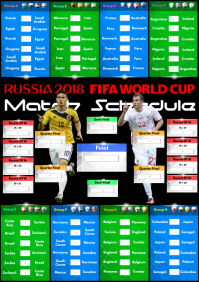 World Cup 2018 Match Schedule