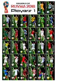 A2 World Cup 2018 Players
