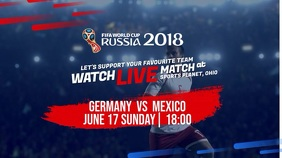 World Cup 2018 Russia Live Match Game Digital Display