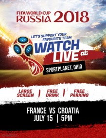 World Cup 2018 Russia Match Flyer Poster