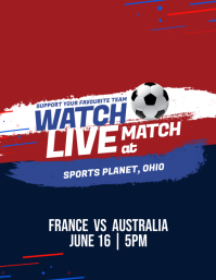 World Cup 2018 Watch Live Match Flyer Poster